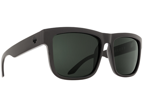 Spy Optic Discord Sunglasses (Color: Black Frame / HD Plus Gray Green Lens / Polarized)