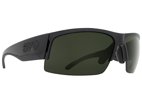 Spy Optic Flyer Sunglasses Array (Model: Matte Black Frame / ANSI RX / HD Plus Gray Green)