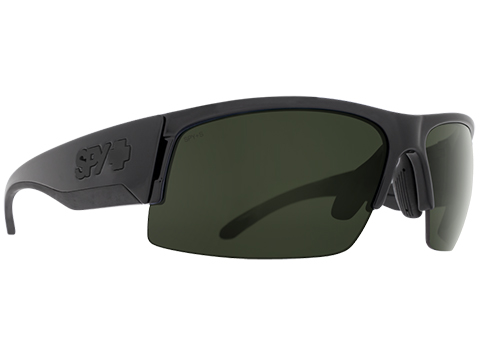 Spy Optic Flyer Sunglasses Array (Model: Matte Black Frame / ANSI RX / Happy Gray Green, Happy Yellow, Clear Lens, Carrying Case)