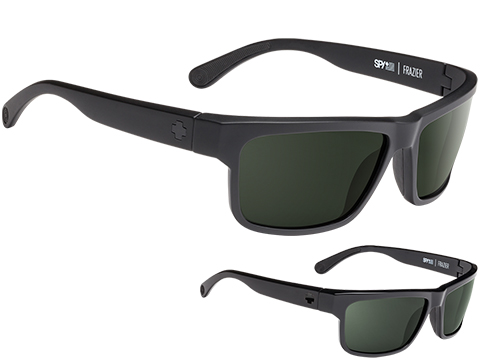 Spy Optic Frazier Sunglasses (Color: Matte Black Frame / HD Plus Gray Green Lens / Polarized)