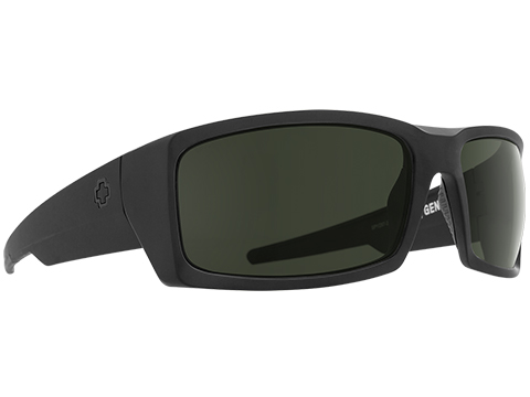 Spy Optic General Sunglasses (Model: Matte Black Frame / ANSI RX / HD Plus Gray Green Lens / Polarized)