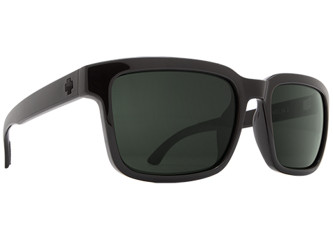 Spy Optic Helm 2 Sunglasses (Color: Black Frame / HD Plus Gray Green Lens)