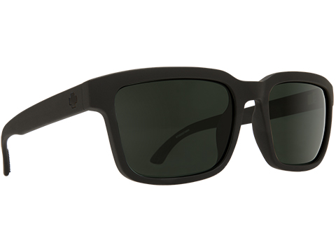 Spy Optic Helm 2 Sunglasses (Color: Matte Black Frame / HD Plus Gray Green Lens / Polarized)