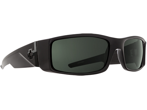Spy Optic Hielo Sunglasses (Color: Black Frame / HD Plus Gray Green Lens / Polarized)