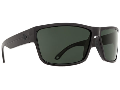 Spy Optic Rocky Sunglasses (Color: Black Frame / HD Plus Gray Green Lens / Polarized)