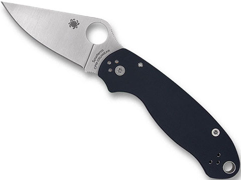 Spyderco PARA™ 3 Lightweight Folding Knife (Model: Plain Edge / Black G10)