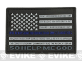 MoeGuns Thin Blue Line 3D PVC Morale Patch