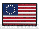 MoeGuns Betsy Ross 3D PVC Flag Patch  - Full Color