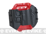 SRUnion BIO Hardshell Holster for XDM40 / Glock Series Airsoft Pistols - Black & Red