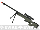 WELL G96 Gas Powered Full Size Airsoft Sniper Rifle with Scope - OD Green (Package: Rifle + Scope)