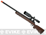 Apple Airsoft M700 Airsoft Bolt Action Gas Sniper Rifle - Real Wood