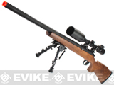 JG M700 Bolt Action Airsoft Sniper Rifle - Wood