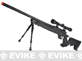 WELL MB04 APS Bolt Action Airsoft Sniper Rifle w/ Bipod & Scope (500+ FPS)