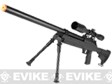 SR-2 ASR M187 Shadow Op Bolt Action Airsoft Sniper Rifle w/ Bipod and LE Stock by JG - Black
