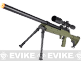 SR-2 MB06 Shadow Op Bolt Action Airsoft Sniper Rifle w/ LE Stock - OD Green (2 Mags)