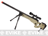 Matrix AW-338 MB08D Bolt Action Airsoft Sniper Rifle w/ Bi-Pod & Scope by WELL - Desert