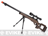 Matrix / WELL VSR10 MB09 Airsoft Bolt Action Sniper Rifle (Color: Real Wood + Scope and Bipod)