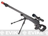 Matrix Custom VSR10 MB10 Airsoft Bolt Action Sniper Rifle w/ Scope & Bipod by WELL - Black