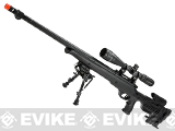 Matrix Custom VSR10 MB12 Airsoft Bolt Action Sniper Rifle by WELL (Package: Black + Scope)