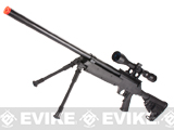 Matrix SR-2 MB13 Shadow Op Bolt Action Airsoft Sniper Rifle w/ LE Stock by WELL (Package: Gun + Bipod)