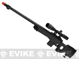WELL L96 Bolt Action Airsoft Sniper Rifle w/ Folding Stock (Color: Black + Scope and Bipod)