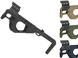 SRU 3D Printed PDW Carbine Kit for G Series Gas Blowback Airsoft Pistols (Color: Black)