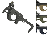 SRU 3D Printed PDW Gas Blowback Pistol Carbine (Color: Black)