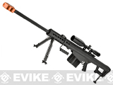 SOCOM Gear Fully Licensed Barrett M107 Co2 Shell Ejecting 8mm Airsoft Gas Sniper Rifle - Black