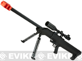 Snow Wolf M82 M99 LRSA Bolt Action Airsoft Long Range Sniper Rifle - Black (Package: Rifle & Bipod Only)