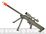 Snow Wolf M82 M99 LRSA Bolt Action Airsoft Long Range Sniper Rifle - Desert (Package: Rifle & Bipod Only)