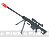 Snow Wolf Custom Long Range Airsoft AEG Sniper Rifle (V.2 Gearbox) - Black / Long Barrel (Package: No Scope)
