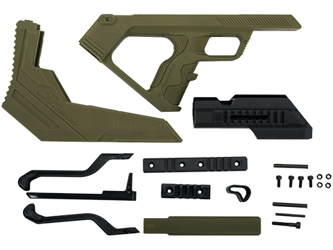 SRU 3D Printed Bullpup Conversion kit for WE-Tech MK17  Gas Blowback Rifle (Color: OD Green)