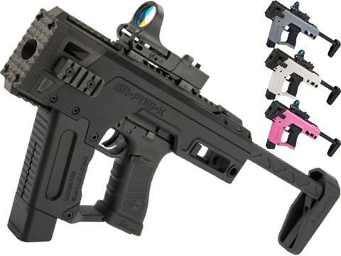 SRU PDW Carbine Kit with Elite Force GLOCK 17 Airsoft Pistols