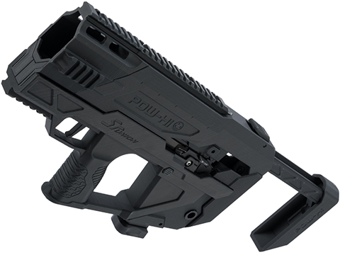 SRU 3D Printed PDW Carbine Kit for Hi-Capa Series Gas Blowback Airsoft Pistols (Color: Black)