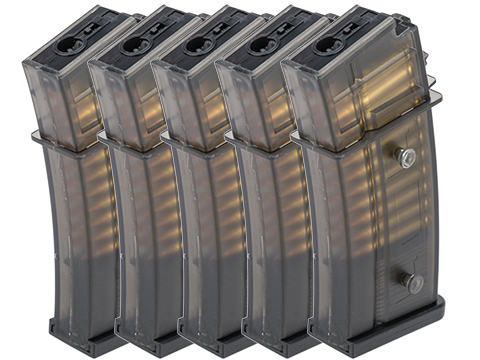 Matrix G36 Precision Feeding 50 Round Mid-CAP Magazine w/ Dummy Bullet (Package: Box of 5)
