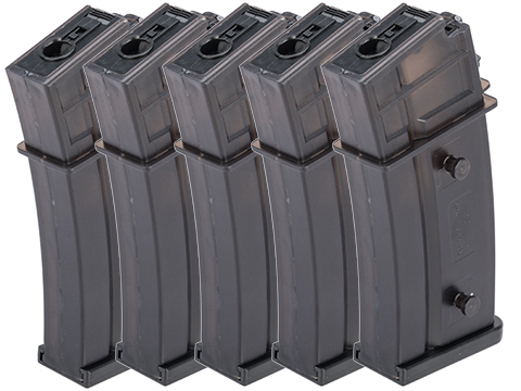 Matrix G36 470rd Hicap Magazine for Airsoft AEG Rifles (Package: Box Set of 5)