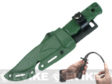 S&T M37-K Seal Pup Type Rubber Training Knife w/ Hardshell Sheath Airsoft Movie Prop - OD