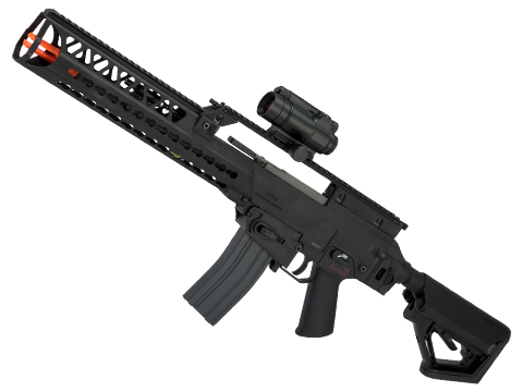 Evike Custom S&T316 IDZ EBB Airsoft AEG with CTS Stock and Bottle Opener Keymod Handguard