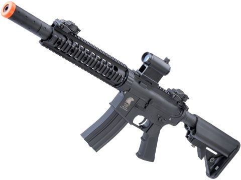 Matrix / S&T Sportsline M4 RIS Airsoft AEG Rifle w/ G3 Micro-Switch Gearbox (Model: Black CQB-R 9)