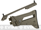 UFC G36 Extendable Folding Stock and Upper Sight Rail Set (Color: Dark Earth)