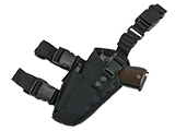 Matrix Deluxe Tactical Thigh Holster (Color: Black / Left)