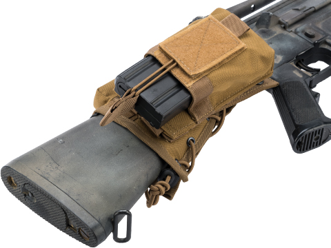 Matrix Sniper Cheek Pad w/ Built in MOLLE System & Modular Magazine Pouch (Color: Tan)