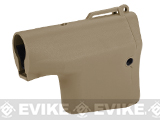 Madbull Airsoft TROY Battle Ax Retractable Stock for M4 / M16 Series Airsoft AEG Rifles (Color: Tan)