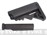 Matrix Advanced 6-Pos. Laser Marked Crane Stock for M4 Series Airsoft AEG (Color: Black)