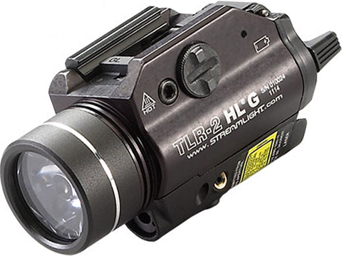Streamlight TLR-2 HL G 800 Lumen LED Rail Mounted Weapon Light w/ Green Laser (Color: Black)