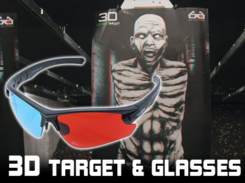 Strike Industries x A7 Defense 3D Zombie Target 5-Pack + ATLAS™ 3D Shooting Glasses Bundle