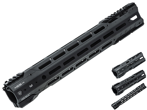 Strike Industries GridLok MLOK Free Float Aluminum Handguard for AR15 Rifles (Color: Black / 8.5)