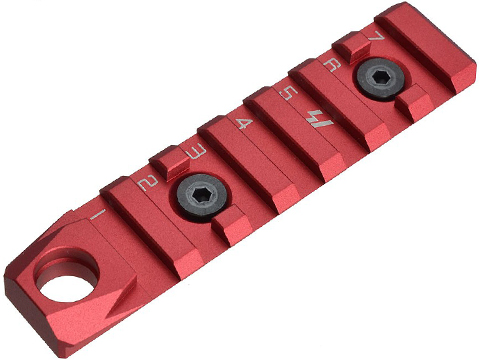 Strike Industries Link 7 Slot Standard Rail Section for Keymod and M-Lok Rail Systems (Color: Red)