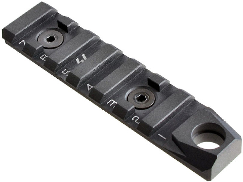 Strike Industries Link 7 Slot Standard Rail Section for Keymod and M-Lok Rail Systems (Color: Black)
