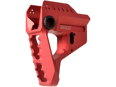 Strike Industries Pit Viper CNC Billet Aluminum Ultra Low Profile Stock (Color: Red)
